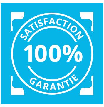 100% satisfaction garantie